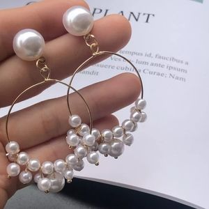 Clip On Lightweight Pearly Hoops